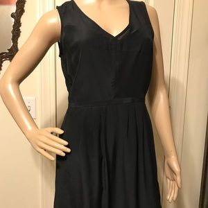 Madewell 1937 Size 2 Tailored Silk Dress Black
